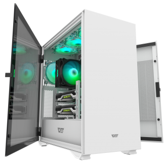 """New"" DarkFlash DLX22 White ATX Gaming Case"