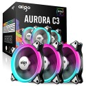 DarkFlash Aigo Aurora C3 3-In-1 120mm w/ Controller -Aurora C3 3-In-1-by DarkFlash
