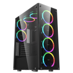 DarkFlash Phantom Black ATX Gaming Case-Phantom-by DarkFlash