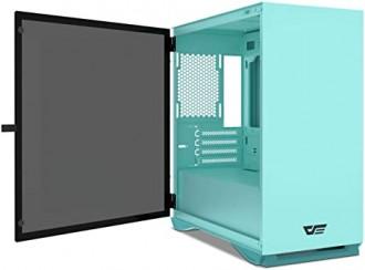 DarkFlash DLM22 Mint Green Micro-ATX Gaming Case