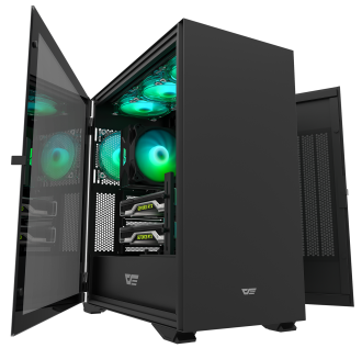"""New"" DarkFlash DLX22 Black ATX Gaming Case"