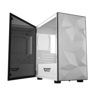 DarkFlash DLM21 White Micro-ATX Gaming Case