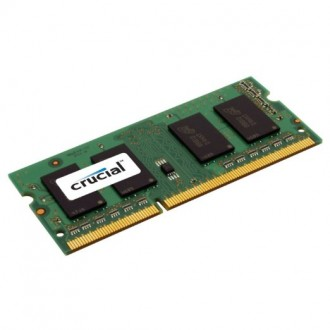 Crucial 8GB, 204-pin SODIMM, DDR3 PC3-12800 RAM memory module
