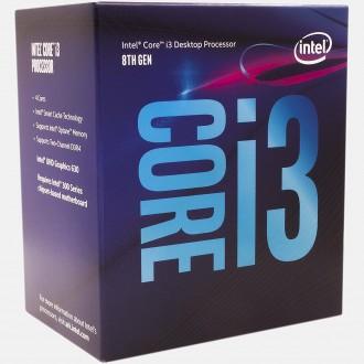 Intel Core i3-8100 Coffee Lake Quad-Core 3.6 GHz LGA 1151 Retail Pack BX80677I37100