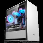 DarkFlash DLM22 White Micro-ATX Gaming Case-DLM22 White-by DarkFlash